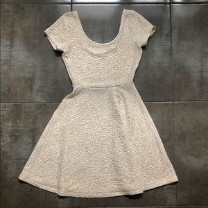 Gold Shimmer Party Dress